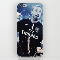 zlatan iPhone & iPod Skins featuring Zlatan Ibrahimovic by Max Hopmans / FootWalls
