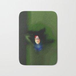 Face in a green sea Bath Mat