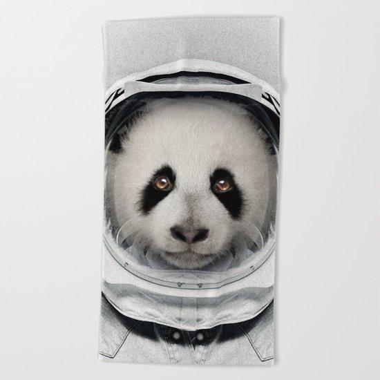Panda Astro Bear Beach Towel