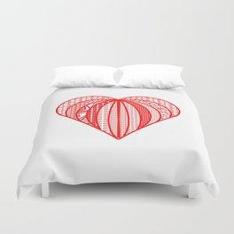 red heart . artlove Duvet Cover