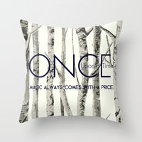 ouat Throw Pillows featuring Once Upon a Time (OUAT)  by Canis Picta