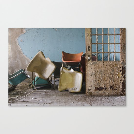 Asylum Chairs Canvas Print