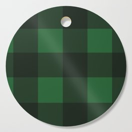 Green and Black Plaid Cutting Board