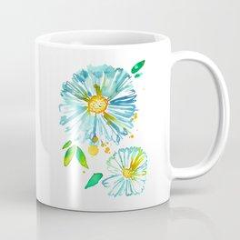 Lakeside Watercolour Blue Daisies Coffee Mug