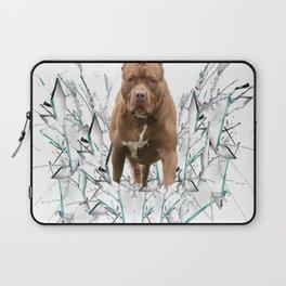 car stickers pitbull gift shirt dog Laptop Sleeve
