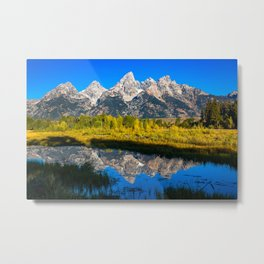 Grand Teton - Reflection at Schwabacher's Landing Metal Print