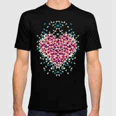 A heart is made of bits and pieces Mens Fitted Tee SMALL Black