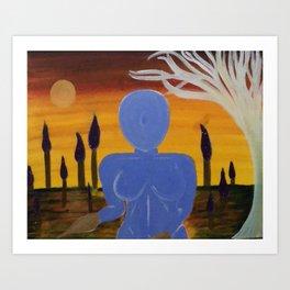 Painted Hero Art Print