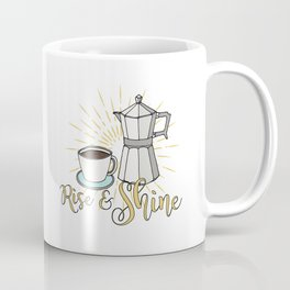 Rise and shine | Coffee art print | Stovetop espresso Coffee Mug