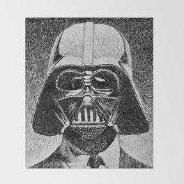Darth Vader portrait #2 Throw Blanket