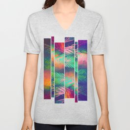 A Zagged Row of Palms [Near Cantor Arts Center] Unisex V-Neck