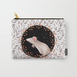 Beautiful nosey Mouse with flower backround- Animal- child -mice- flowers Carry-All Pouch