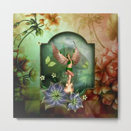 Wonderful fairy with butterflies Metal Print