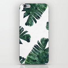 Banana Leaf Watercolor #society6 #buy #decor iPhone Skin