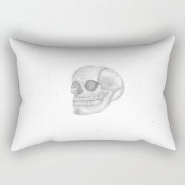Death Skull (original work of 8yr old boy) Rectangular Pillow