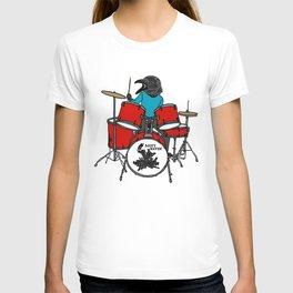 Salty Raven Drummer from Flock of Gerrys T-shirt