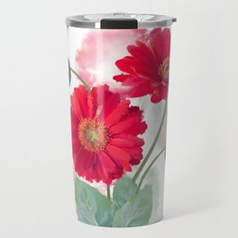 Digital painting of Gerbera Flowers Travel Mug