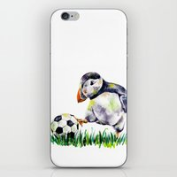 football iPhone & iPod Skins featuring Football by Anna Shell