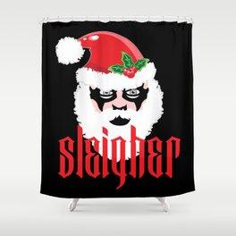 Sleigher   Christmas Xmas Parody Shower Curtain