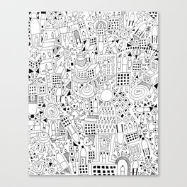 Frenetic City Canvas Print