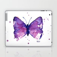 Butterfly Purple Watercolor Animal Laptop & iPad Skin
