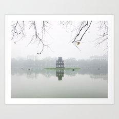 Foggy morning - Hanoi Art Print
