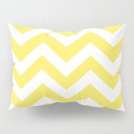 Maize - yellow color - Zigzag Chevron Pattern Pillow Sham