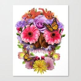 Floraskull Canvas Print