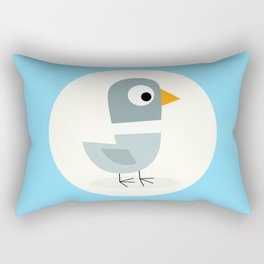 Mr Bird Blue Rectangular Pillow