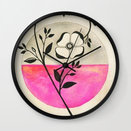 Old Fashioned Rose Wall Clock