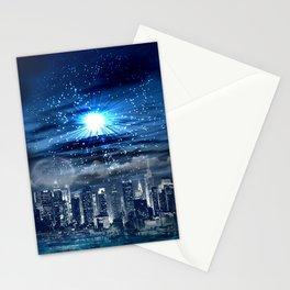City of Blue Stationery Cards