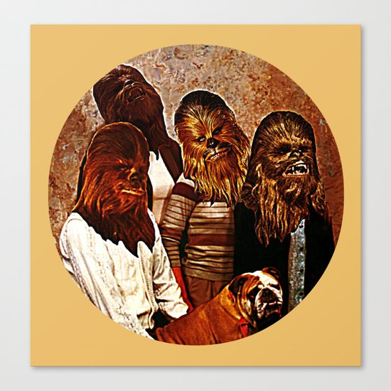 Wookiee Family Portrait  |  Star Wars Canvas Print