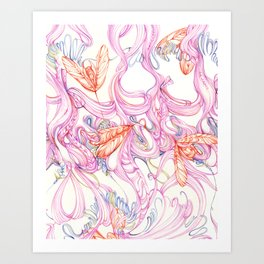 Insect textile n0.1 Art Print