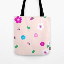 Cherry Blossom Garden - Blush Pink Tote Bag