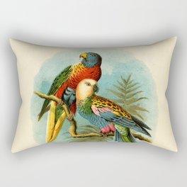Vintage Parrots Rectangular Pillow