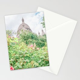 Sacre Coeur Basilica in Paris, France Stationery Cards
