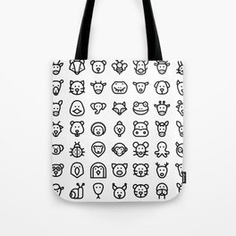 CUTE ANIMAL KINGDOM PATTERN Tote Bag