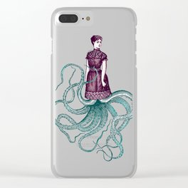 Victorian Cthulhu Lady Clear iPhone Case