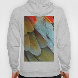 Green and Red Macaw Feathers Hoody
