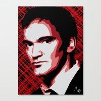 tarantino Canvas Prints featuring Quentin Tarantino by Måry