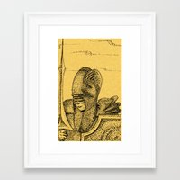 knight Framed Art Prints featuring Knight by Red Drago
