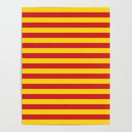 Macedonia Vietnam Northumberland flag stripes Poster