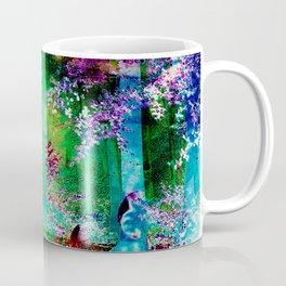 Neon Bubble Forest Coffee Mug