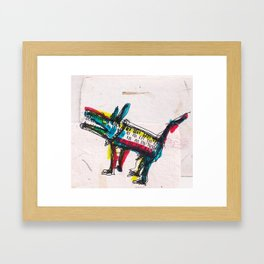 Another Happy Perrito Framed Art Print