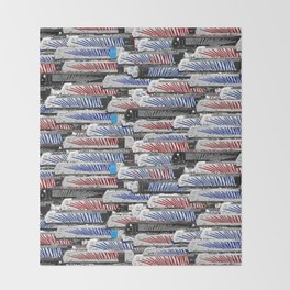 Locomotives - Lokomotion - by Railcolor Throw Blanket