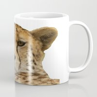 cheetah Mugs featuring Cheetah by Sean Foreman