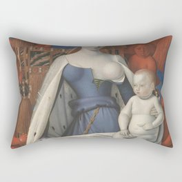 Madonna And Child By Jean Fouquet 1452 Rectangular Pillow