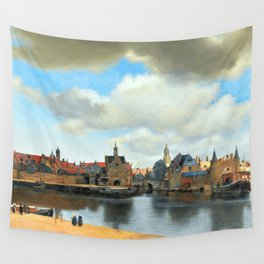 Johannes Vermeer View of Delft Wall Tapestry