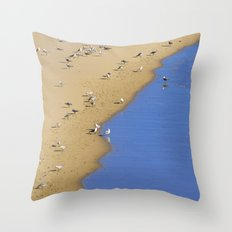 Else in Blue Throw Pillow