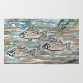 School of White Perch Rug